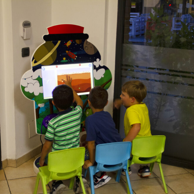 area giochi touch screen